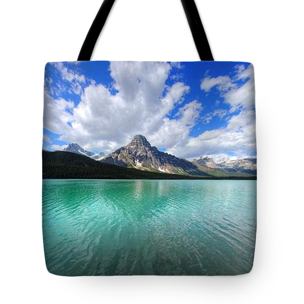 Tote Bag featuring the photograph White Pyramid by David Andersen