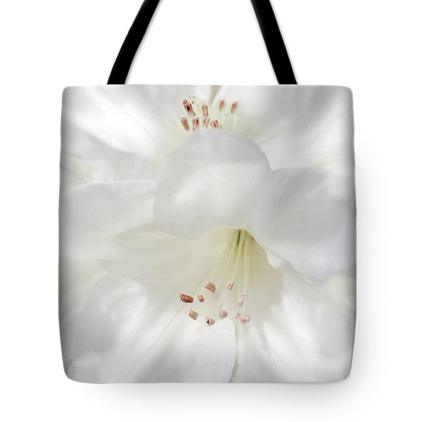 White Rhododendron Flowers Tote Bag