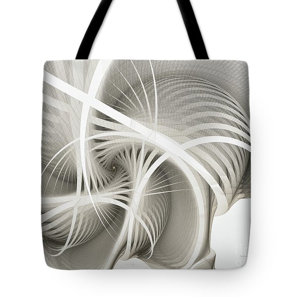 White Ribbons Spiral Tote Bag