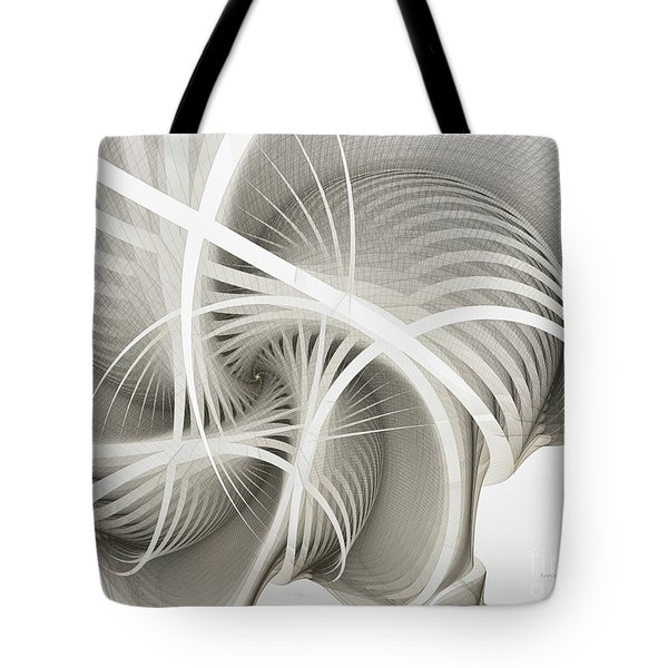 White Ribbons Spiral Tote Bag