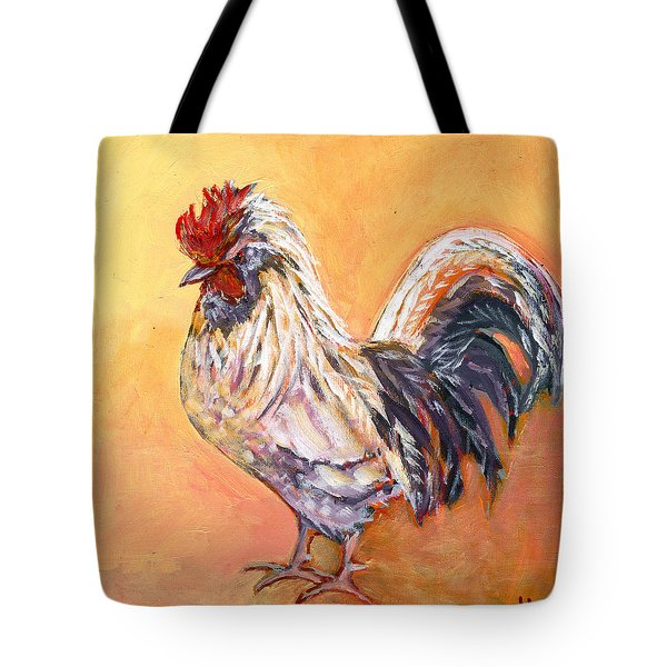 White Rooster Tote Bag
