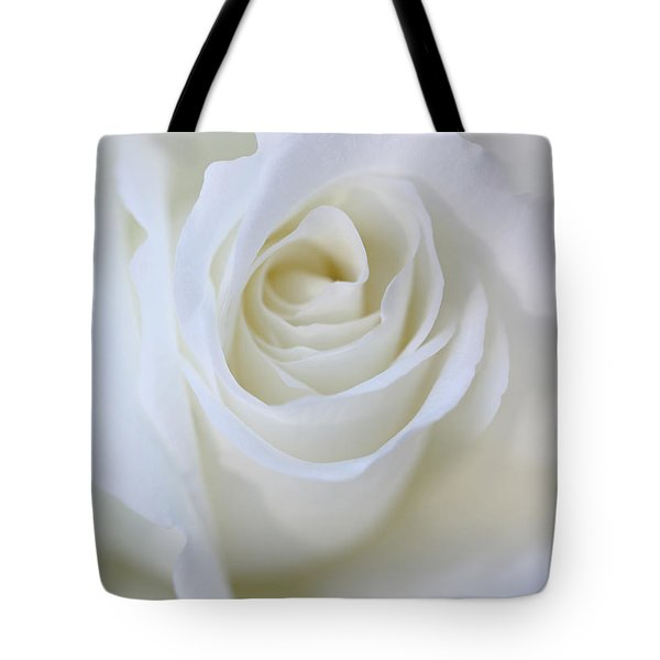 White Rose Floral Whispers Tote Bag