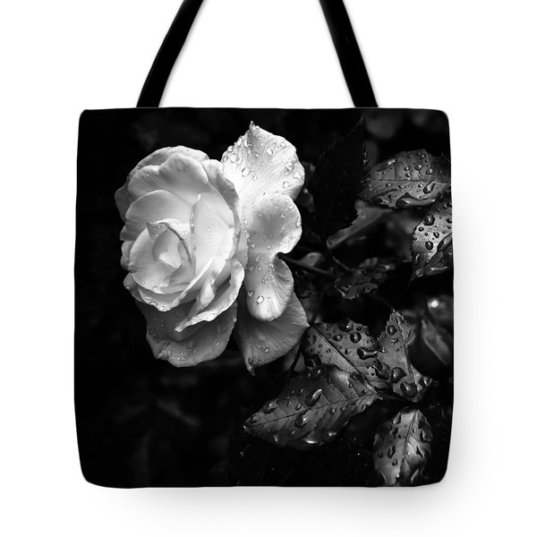 White Rose Full Bloom Tote Bag by Darryl Dalton