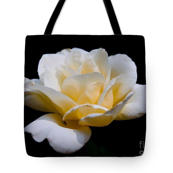 White Rose Tote Bag by Lisa L Silva