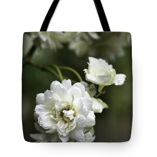 Tote Bag featuring the photograph White Roses by Joy Watson