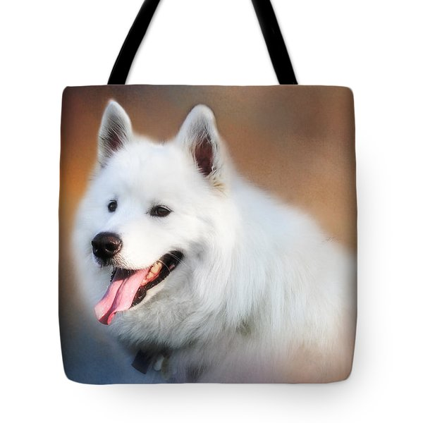 White Samoyed Portrait Tote Bag