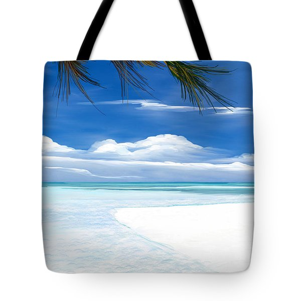 White Sand And Turquoise Sea Tote Bag by Anthony Fishburne