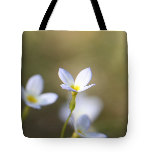 White Serenity Tote Bag by Neal Eslinger