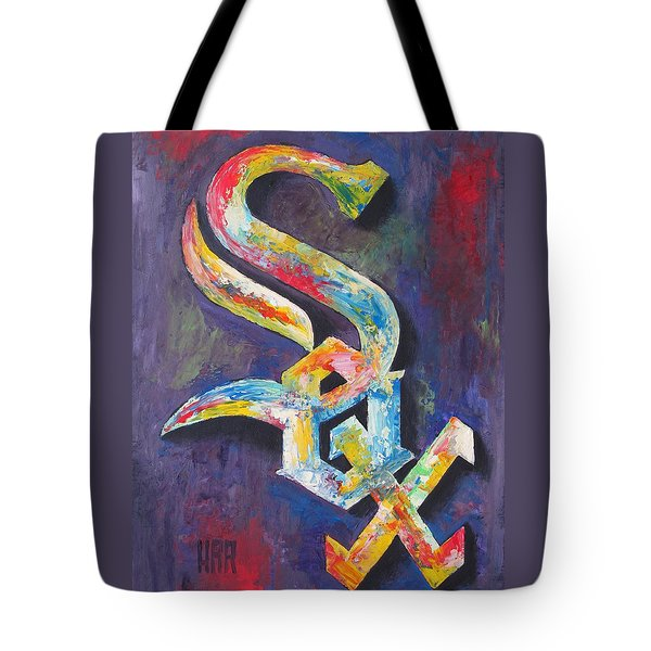 Chicago White Sox Baseball Tote Bag by Dan Haraga