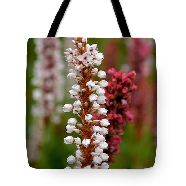 White Stalk Flower Tote Bag