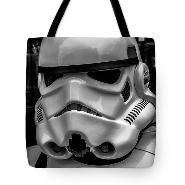 White Stormtrooper Tote Bag by David Doyle