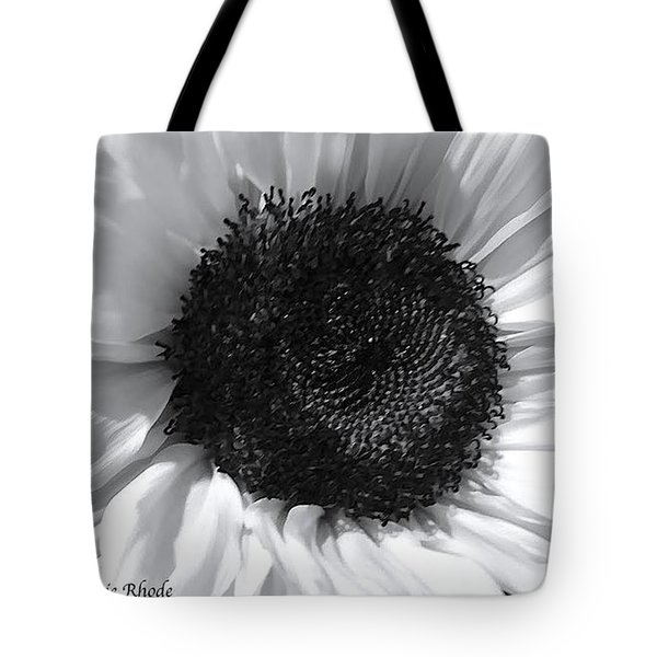 Tote Bag featuring the photograph White Sunflower by Jeannie Rhode