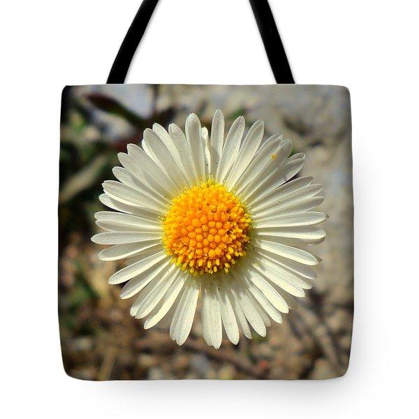 White Wild Flower Tote Bag