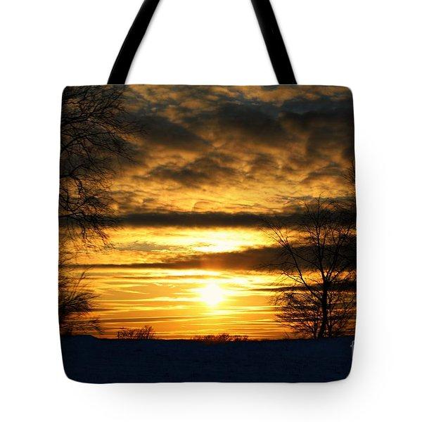 White Sunset Tote Bag