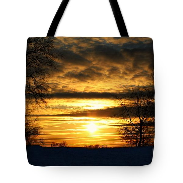 White Sunset Tote Bag