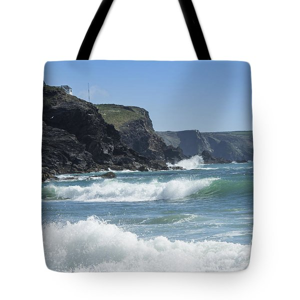 White Surf Tote Bag
