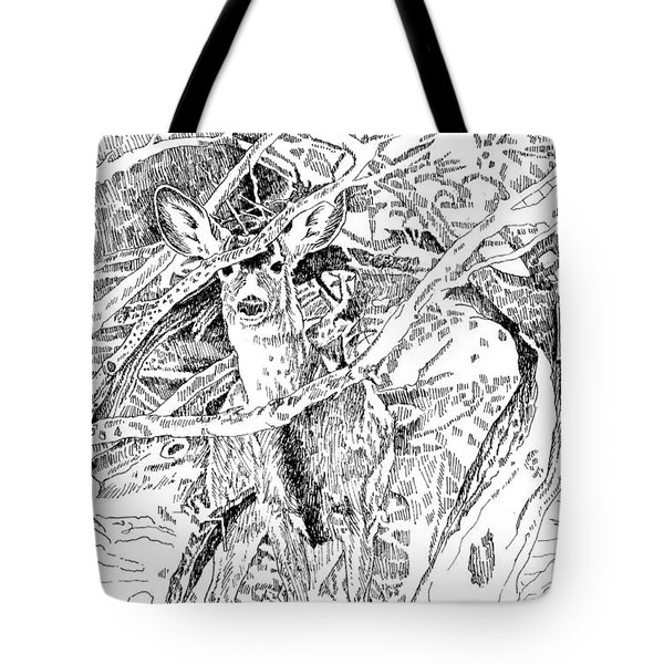 White-tail Encounter Tote Bag