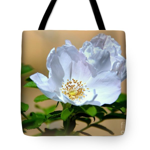 White Tea Rose Tote Bag