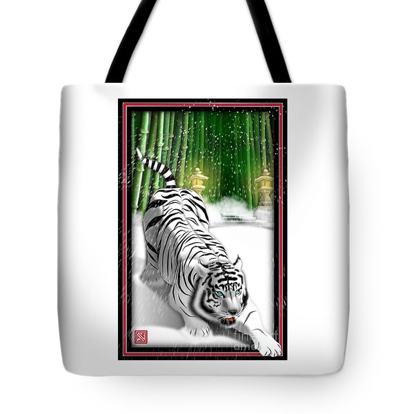 White Tiger Guardian Tote Bag