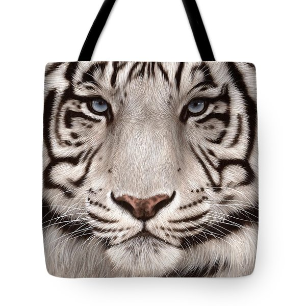 White Tiger Painting Tote Bag