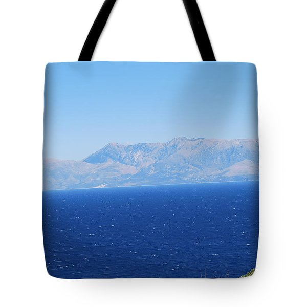 Tote Bag featuring the photograph White Trail by George Katechis