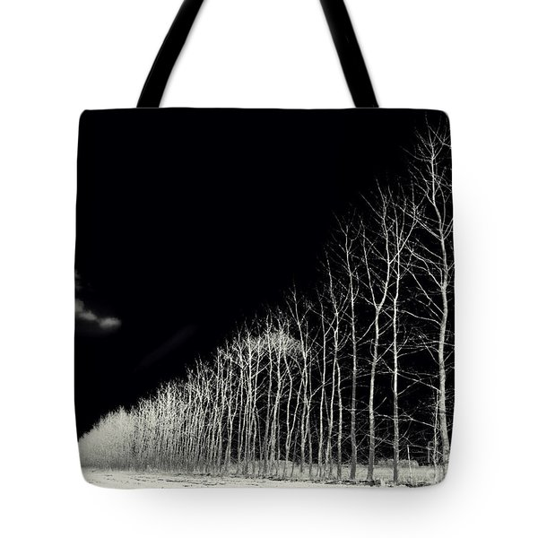 White Trees Tote Bag by Stelios Kleanthous