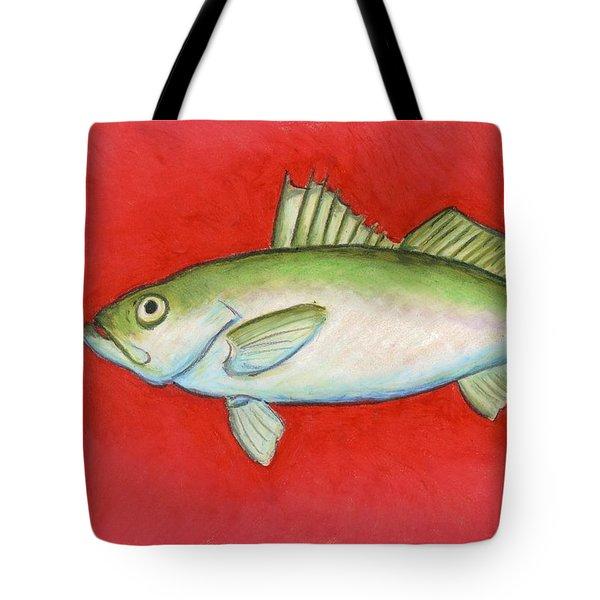 White Trout Tote Bag