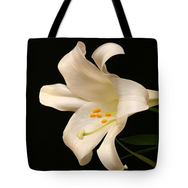 White Trumpet Tote Bag by Doug Norkum