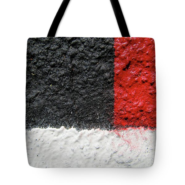 Tote Bag featuring the photograph White Versus Black Over Red by CML Brown