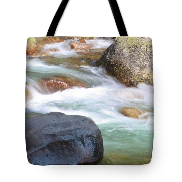 White Water Tote Bag by Heidi Smith