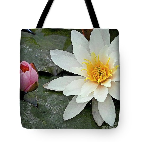 White Water Lily Nymphaea Tote Bag by Heiko Koehrer-Wagner