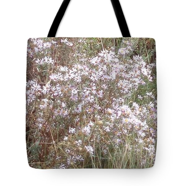 Tote Bag featuring the photograph White Wild Flowers by Fortunate Findings Shirley Dickerson