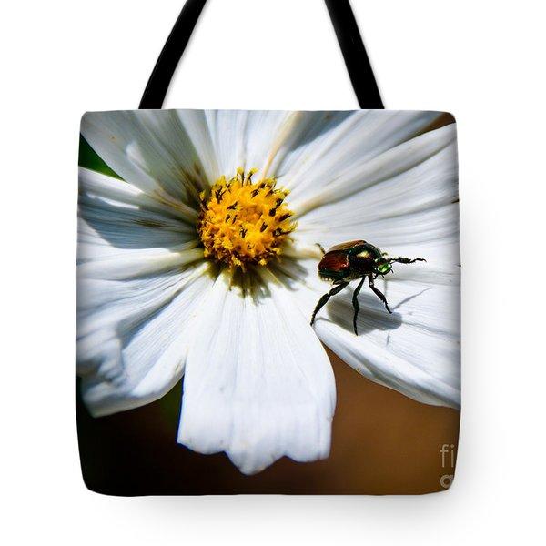 White Wildflower Tote Bag by Lisa L Silva