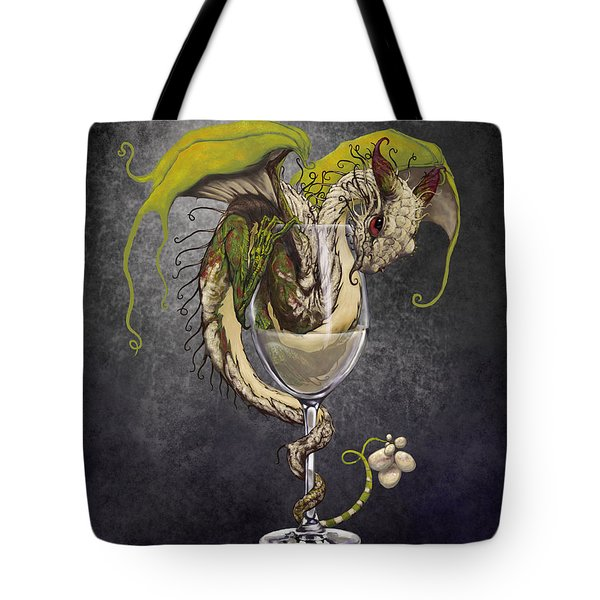 White Wine Dragon Tote Bag