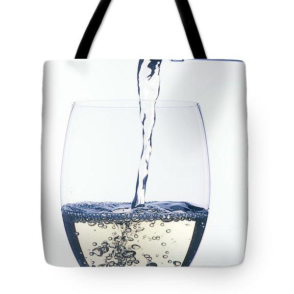 White Wine Pouring Tote Bag