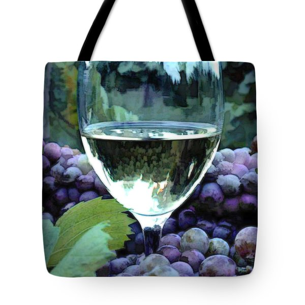 White Wine Reflections Tote Bag by Elaine Plesser