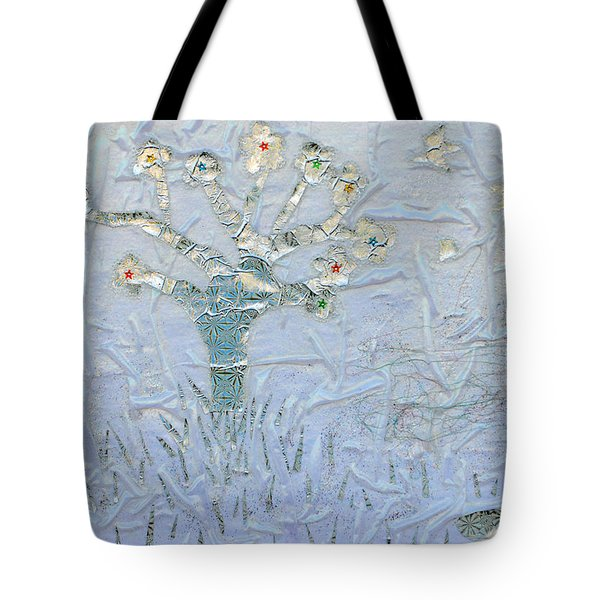 White World Tote Bag by Augusta Stylianou
