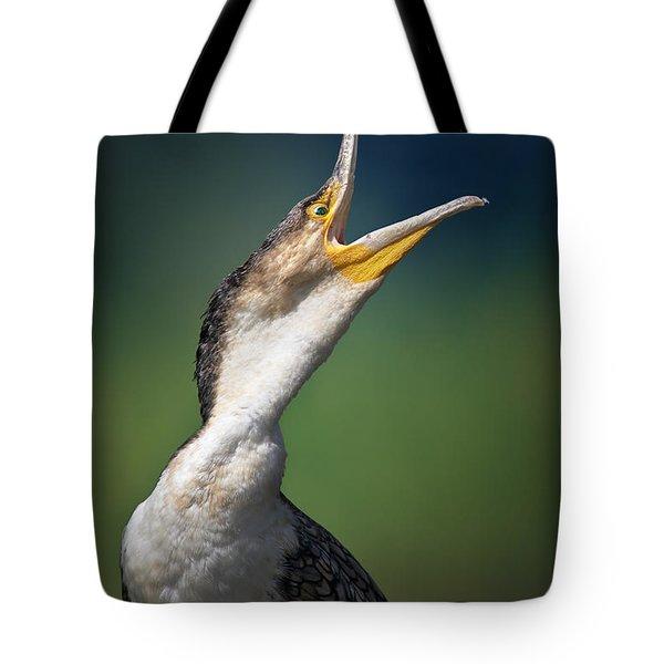 Whitebreasted Cormorant Tote Bag