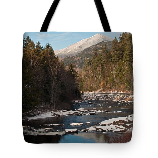 Whiteface Mountain At Monument Falls Tote Bag