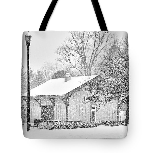 Whitehouse Train Station Tote Bag by Jack Schultz