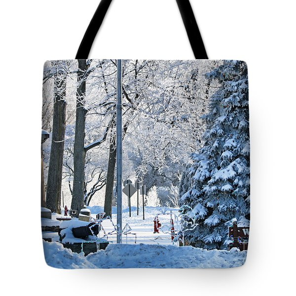 Whitehouse Village Park  7360 Tote Bag by Jack Schultz