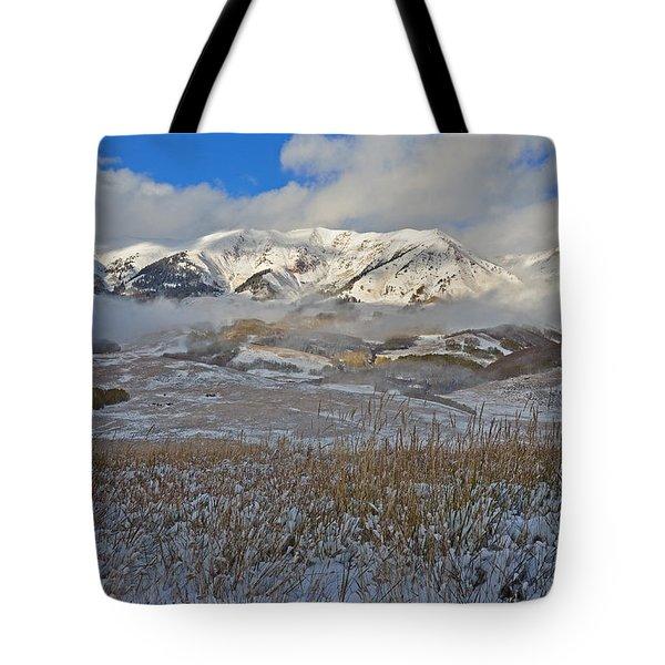 Whiterock Winter Mist Tote Bag