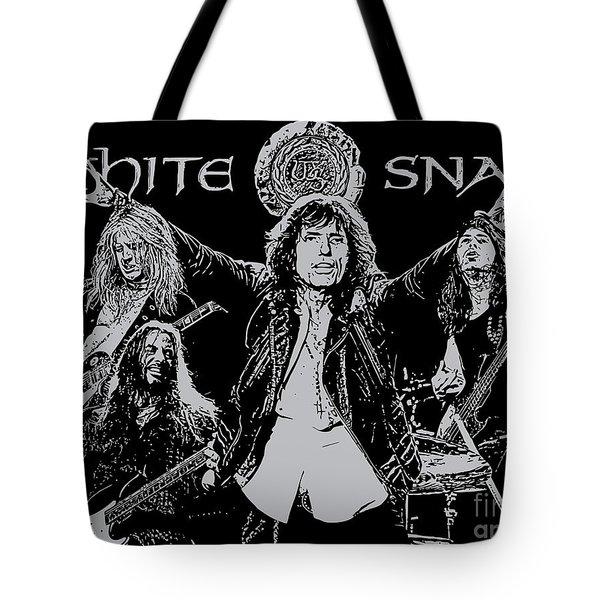 Whitesnake No.01 Tote Bag by Caio Caldas