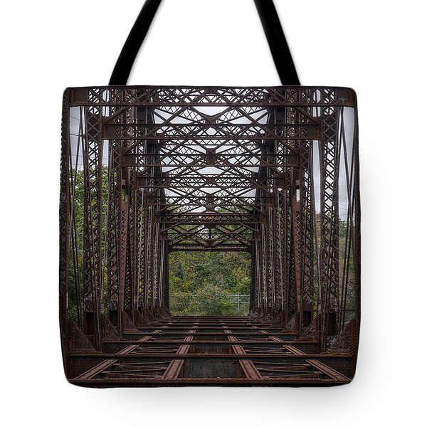 Whitford Railway Truss Bridge Tote Bag by Richard Reeve