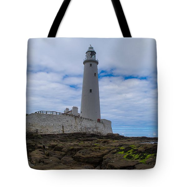 Whitley Bay St Mary's Lighthouse Tote Bag