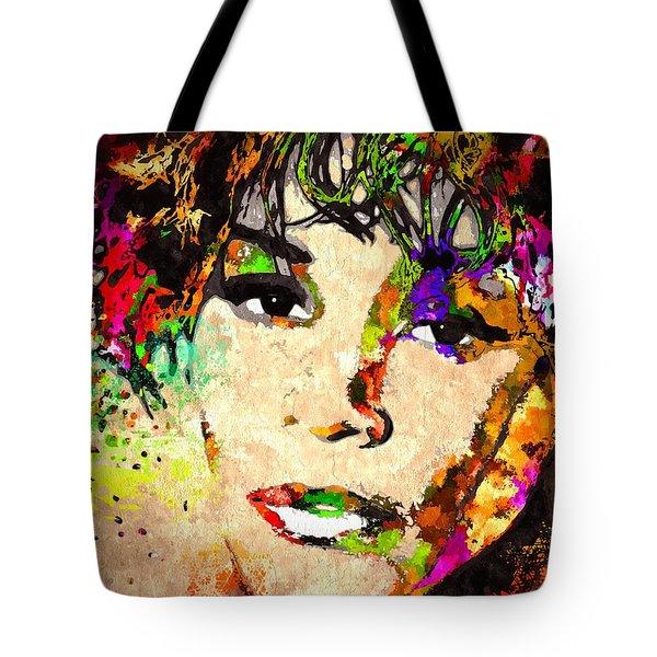 Whitney Houston Tote Bag by Daniel Janda
