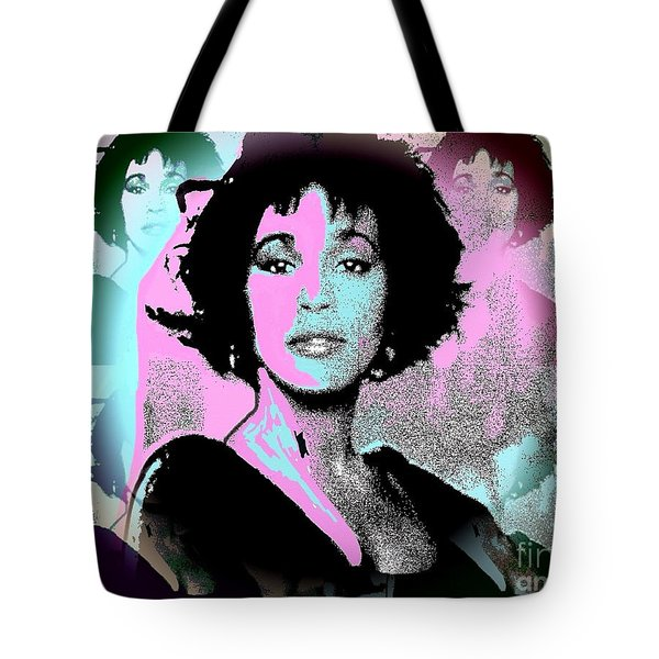 Whitney Houston Sing For Me Again Tote Bag
