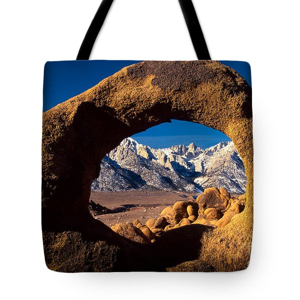 Whitney Portal Tote Bag by Inge Johnsson