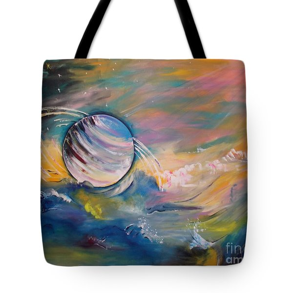 Who But You Could Leave A Trail Of Galaxies Tote Bag by PainterArtist FIN