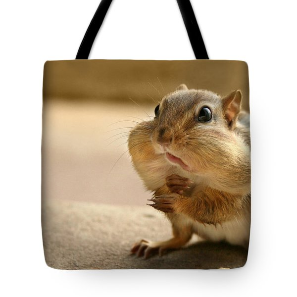 Who Me Tote Bag by Lori Deiter